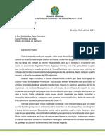 Kátia Abreu envia carta ao papa pedindo que interceda pelo Brasil