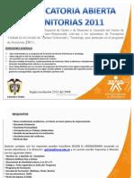 Primera  Convocatoria  Monitorias 2011