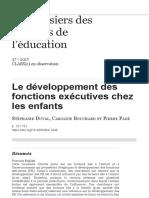Le développement des fonctions exécutives chez les enfants 2