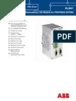 3BDD011641R0301 - En RLM01 Redundancy Link Module for PROFIBUS DP FMS Data Sheet
