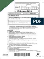 October 2020 P4