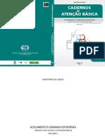 Caderno de Atencao Basica 28 Volume 2 ACOLHIMENTO À DEMANDA ESPONTÂNEA