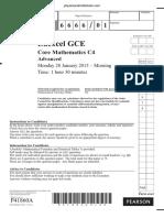 January 2013 QP - C4 Edexcel