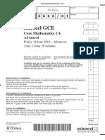 June 2010 QP - C4 Edexcel