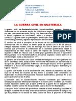 GUERRA CIVIL EN GUATEMALA