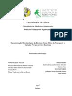 Caracterização Microbiológica de Bivalves Vivos_Efeito do Transporte e Variação Temporal Entre Espécies
