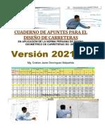 INGENIERIA DE CARRETERAS - Cuaderno de Apuntes Marzo 2021