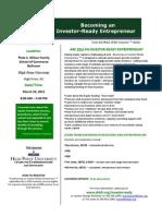 Investor Ready Entrepreneur Flyer