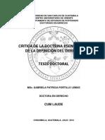 CRITICA DE LA DOCTRINA ESENCIALISTA