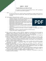 Exigência mínima em projetos prediais em BT