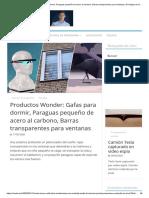 Wonder Products_ Gafas para dormir, Paraguas pequeño de acero al carbono, Barras transparentes para ventanas _ El milagro de la tecnología
