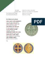 Oraciones Medalla San Benito Orac de la Cruz de carabaca