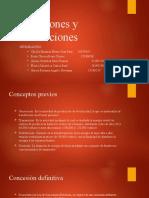 Exposicion de conseciones y autorizaciones Grupo 8