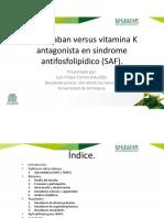 Warfarina vs. Rivaroxabán