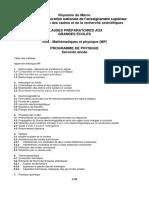 Programme Pedagogique Marocain Physique Mp