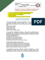 8ºANO - LISTA DE EXERCÍCIO AVALIATIVO - GEOGRAFIA..