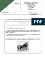 Actividad Práctica Clase N°19 - 4° Básico