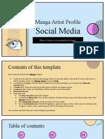 Manga Artist Profile Social Media by Slidesgo