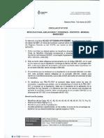 Circular Dp 07-21 Movilidad Para Jubilaciones y Pensiones - Docentes - Mensual Marzo -2021