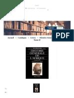 Histoire générale de l'Afrique. Tome II