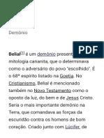 Belial – Wikipédia, a enciclopédia livre