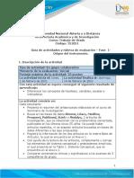 Guia de actividades y Rúbrica de evaluación Fase 1 - Origen del instrumento de medición