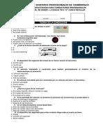 CUESTIONARIO EVALUACION FINAL DE GRADO LICENCIA TIPO E REGULAR