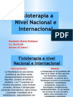 Fisioterapia a nivel Nacional y Internacional