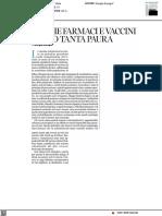 Perché farmaci e vaccini fanno tanta paura - Corriere Salute dell'8 aprile 2021