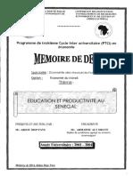 2004 Faye Education Et Productivite