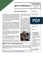 Volunteer Newsletter Winter 2011