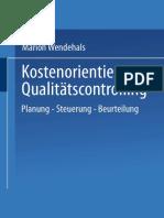 Kostenorientiertes Qualitätscontrolling