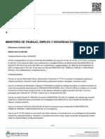 MINISTERIO DE SALUD Y MINISTERIO DE TRABAJO, EMPLEO Y SEGURIDAD SOCIAL Resolución Conjunta 4/2021