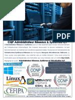 CQP Administrateur Réseaux et Systèmes PNR