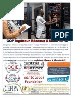 CQP ingénieur réseaux et Sécurité