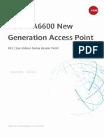 H3C WA6600 New Generation 802.11ax Indoor Series AP Datasheet - Updated