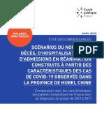 Scénarios du nombre de décès D'HOSPITALISATIONS ET  D'ADMISSIONS EN RÉANIMATIOND'HOSPITALISATIONS ET  D'ADMISSIONS EN RÉANIMATION