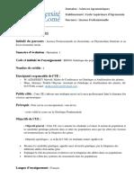 Syllabus Génétique des populations 2020-2021