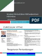 1 - Minepract - Sejarah Pengaturan Hukum Pertambangan Indonesia