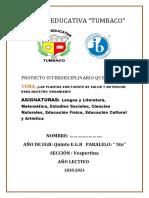 PROYECTO INTERDISCIPLINARIO PARA ESTUDIANTES