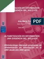 Alfabetización en Información una exigencia del siglo XXI- Ana Maria Prado