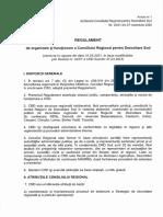 Regulament de organizare și funcționare a CRD Sud