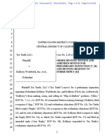 Tee Turtle v. Kellytoy - Order denying PI