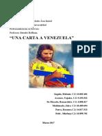 UNA CARTA A VENEZUELA