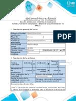 Guía de Actividades y Rúbrica de Evaluación - Tarea 3. Control e Integración