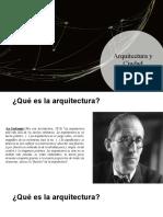 Arquitectura y Ciudad