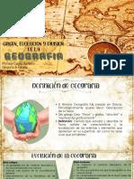 ORIGEN, EVOLUCION Y DIVISION DE LA GEOGRAFIA