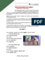 Presentation About Your Family (4grado)