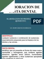 Elabopracion de Pasta Dental
