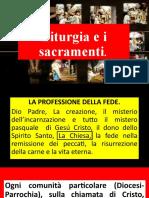 Liturgia e i sacramenti